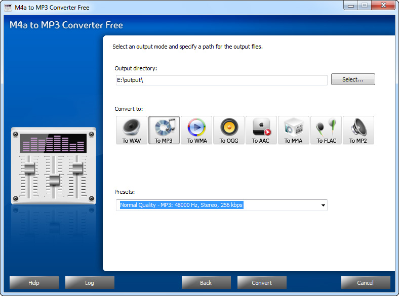 M4a to MP3 Converter Free Screen shot